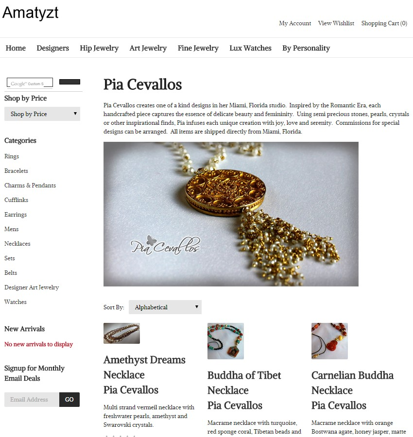 Pia Cevallos on Amatyzt.com